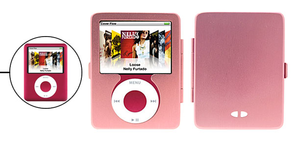 Shock Proof Metal Aluminum Hard Case Cover for iPod Nano 3G 3rd Generation Pink