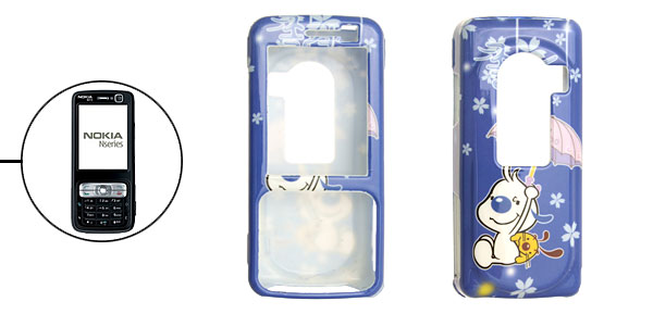 Blue Plastic Cartoon Dog Pattern Case for Nokia N73
