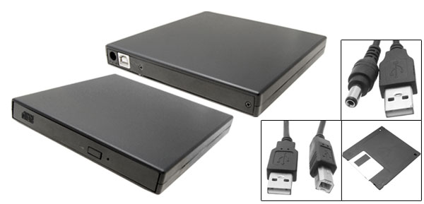 Portable USB PC Laptop Desktop CD-RW Optical Drive Black
