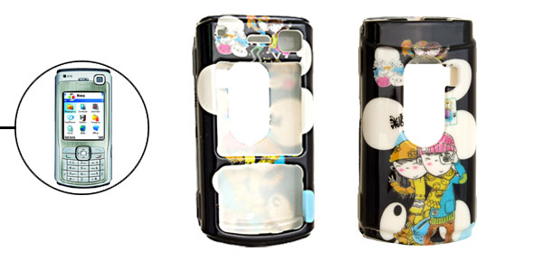 Cartoon Couple Plastic Hard Case for Nokia N70