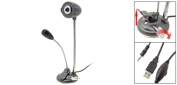 PC USB Digital Video Webcam Web Camera with Microphone and 4 LED Light