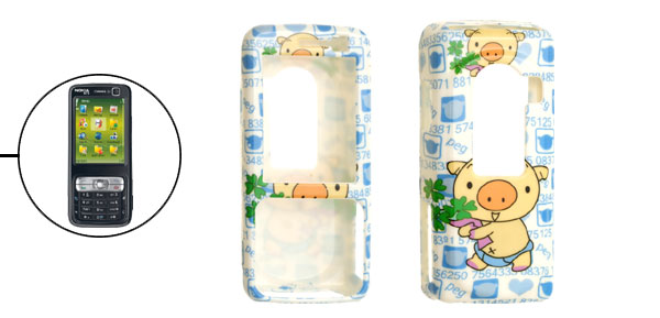 Plastic Case Protector Piggy Cartoon Pattern for Nokia N73
