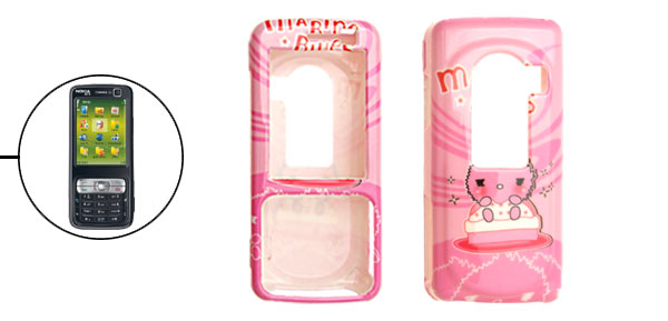 Cute Pink Cartoon Plastic Case for Nokia N73