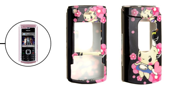 Little Girl Black Plastic Cartoon Case for Nokia N72
