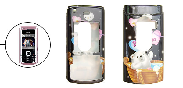 Black Koala Cartoon Plastic Case for Nokia N72