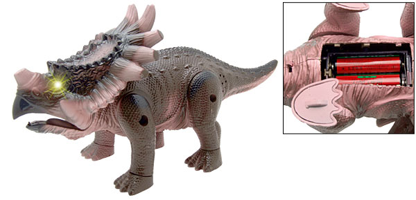 Battery Operated Coffee Protoceratops Dinosaur Epoch Toy with Flash Light