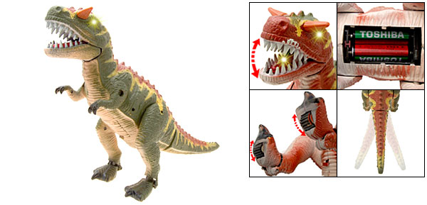 Battery Operated Flash Light Dinosaur Epoch Toy