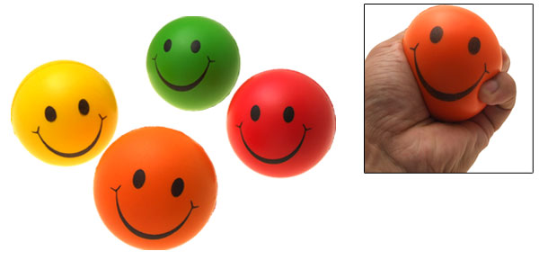 Colorful Squeeze Toss Foam Smiley Stress Balls 4