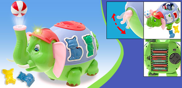 Lovely Funny Music and Light  Elephant Dumbo Toy
