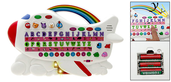 Children Educational Toy Airplane Piano with Music Keyboard