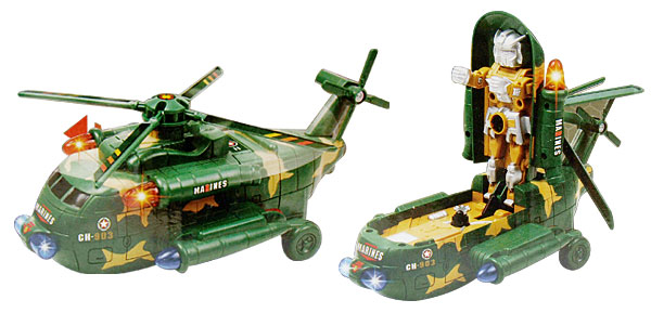 Camouflage Army Gunship Helicopter Toy with Sound and Flash Light