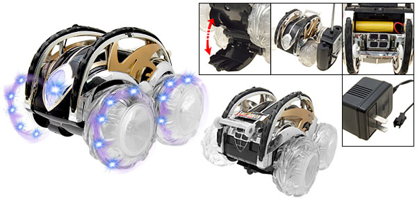 360 Degree Rotation Flash Light Kids RC Remote Control Toy Car