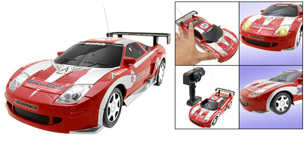 Remote Control RC Radio Super Speed LED Flash Racing Toys Kid Car Red