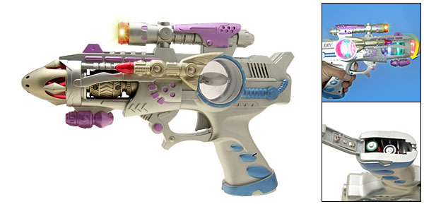 Electronic Colorful Flash Light Space Gun Toy