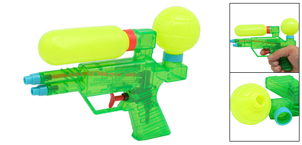 Kids Children Fun Water Plastic Gun Fight Toy Green Yellow