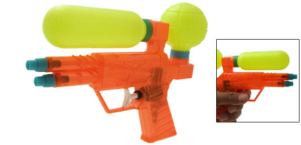 Kids Children Orange Yellow Fun Water Plastic Gun Fight Toy