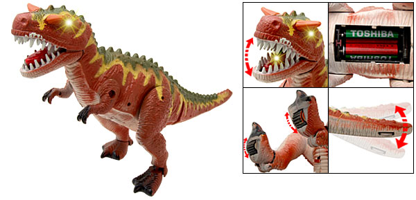 Electronic T-Rex Dinosaur Epoch Robot Animated Motion Toy with Flash Light