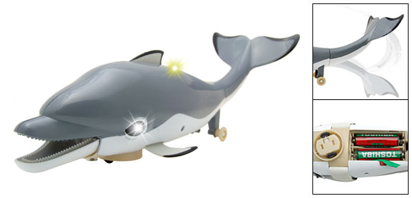 Gray Funny Music Rolling Dolphin Singer Children Toy