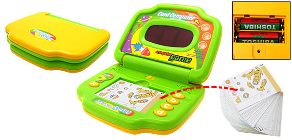 Kids Study Card Computer Game Machine Toy Yellow