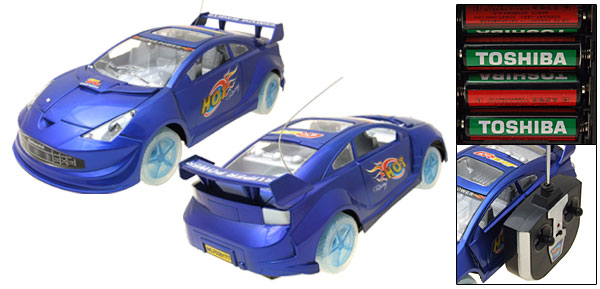 Super Speed Remote Control RC  Radio Blue LED Racing Kid Sports Car Toy