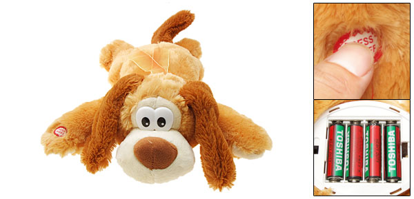 Amber Plush Dog Electric Funny Singing Kid Toy