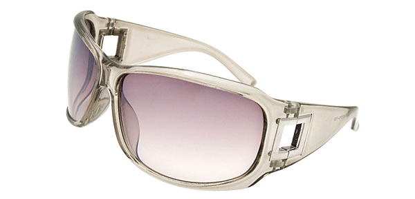 Lohan Transparent Gray Men Motorcycle Sunglasses