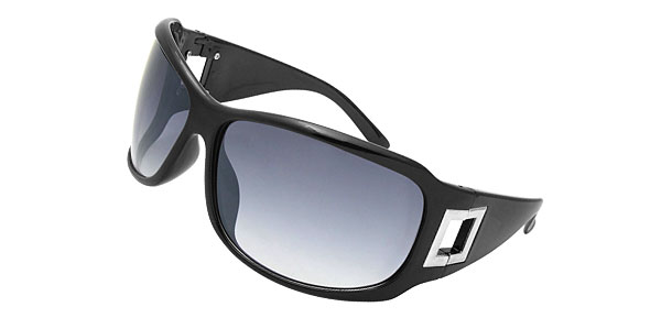 Lohan Black Oversize Men Motorcycle Sports Sunglasses