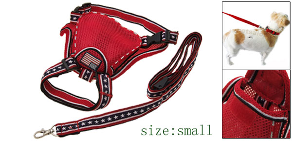 Red Small Carrier Pet Dog Backpack Harness with Leash Set