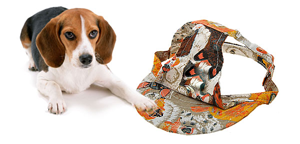 Orange Cloth Summer Sun Dog Cat Pet Hat Cap with Animal Patterned