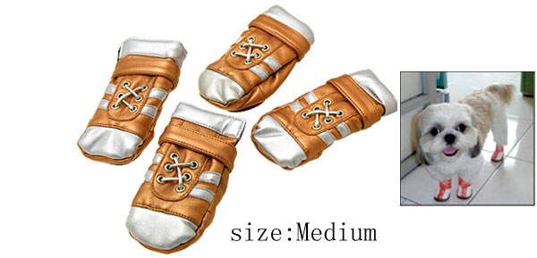 Luxury Pet Protective Boots Dogshoes Leather Booties Medium