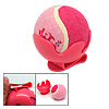 Dog Cat Pet Toy Cricket Baseball Tennis Ball Pink with Clip Brack...