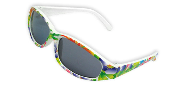 Kids' Colorful Beach Sunglasses with Transparent Black Lens