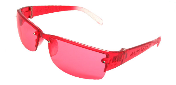 Girls' Children Plastic Red Eyewear Shield Sun Glasses