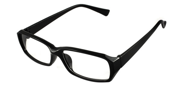 HIgh Fashion Chic  Eyeglasses Glasses in Black Rectangular Spectacle Frame