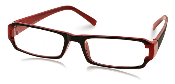 Clear Lens Cool Glasses with Red Black Frame