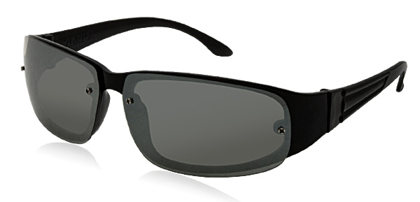 Rectangle Lens Black Frame Unisex Sunglasses