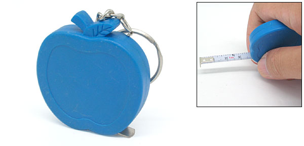 Apple Shaped Mini Pocket Measuring Tape With Keychain