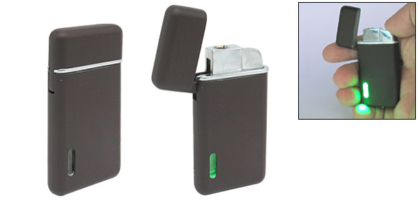 Windproof Lighter with Green Light