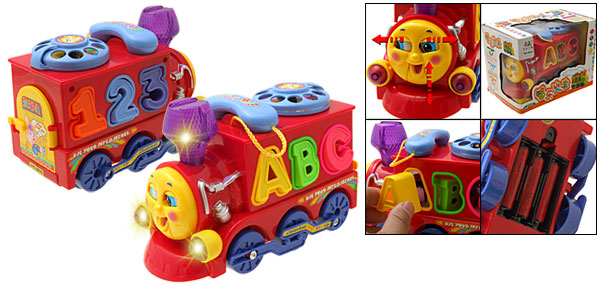 Bump and Go Educational Alphabet Train Kids Toy with Light Sound