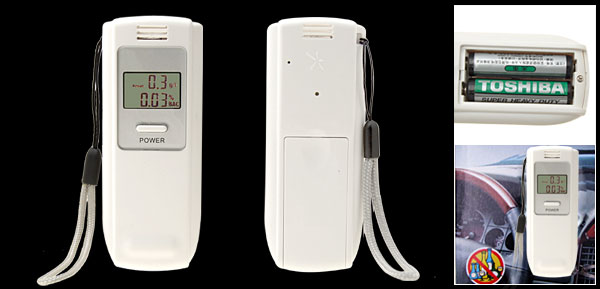 Portable LCD Digital Breath Alcohol Analyser Breathalyzer Tester