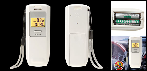 Portable Digital Breath Alcohol Analyser Breathalyzer Tester with LED Backlight