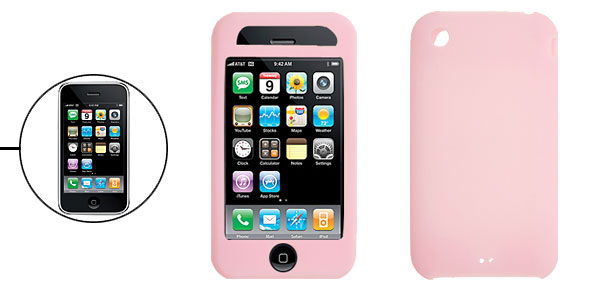 Protective Silicone Pink Skin Case Cover for Apple iPhone 3G