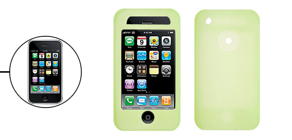 Stylish Protective Silicone Skin Case Cover for Apple iPhone 3G Green