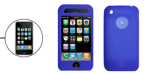 Sylish Protective Silicone Skin Case Cover for Apple iPhone 3G Blue
