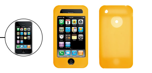 Protector Silicone Skin Case Cover for Apple iPhone 3G Yellow