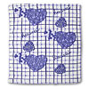 Cotton Bath Hand Face Towel Washcloths White and Blue