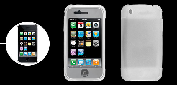 Smooth Clear White Silicone Skin Case Cover for Apple iPhone 3G