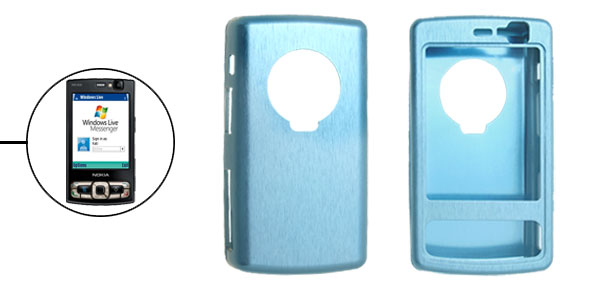 Aluminium Metal Super Slim Blue Case Cover for Nokia N95 8GB