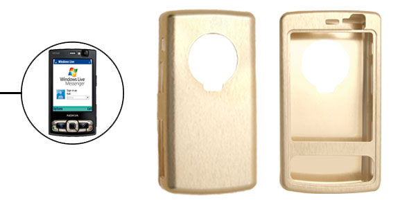 Aluminium Metal Super Slim Cover Case for Nokia N95 8GB Golden