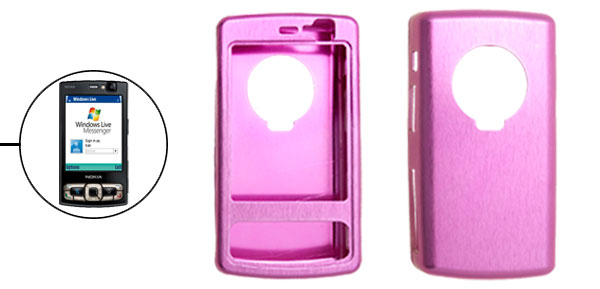Amaranth Pink Super Slim Aluminium Metal Case Cover for Nokia N95 8GB